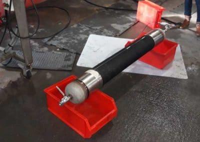 Flexible chemikler UPE DN150 testé à 24 bars