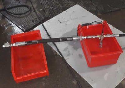 Flexible lance bitume DN25 testé à l'éclatement