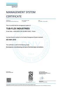ISO 9001 DNV GL Certificate