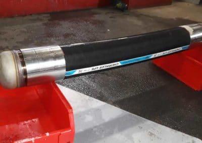 flexible chemikler UPE DN150 testé en allongement