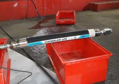 flexible chemikler UPE DN50 testé en torsion