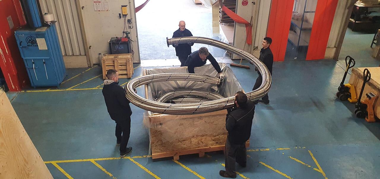 emballage flexible inox transport maritime