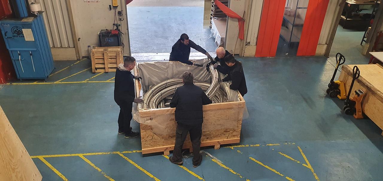 flexible inox transport par container