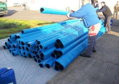 Fabrication tuyaux pour l'Arsenal de Toulon