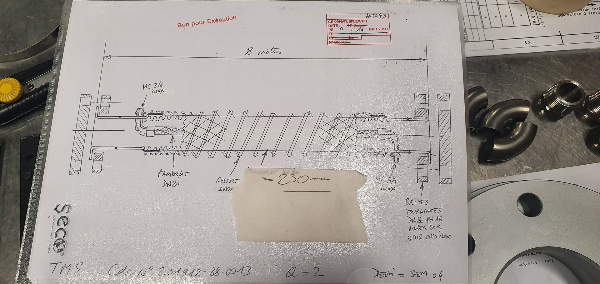 Plan fabrication flexible traceur