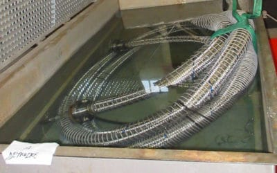 Présentation d'un essai d'étanchéité à l'azote sous eau